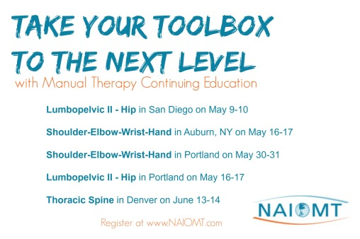 Upcoming Courses NAIOMT